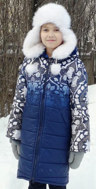 Зимнее болоньевое пальто для девочки