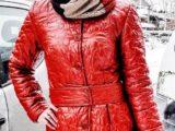 Женское пальто из строчного Лаке