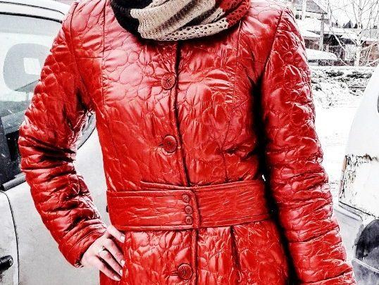 Женское пальто из строченного Лаке